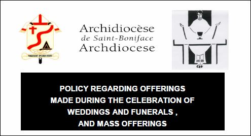 Archdiocese of Saint Boniface - Honorariums for Funerals